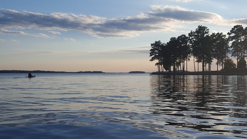 Sunset Kayaking on Lake Murray - 5-23-2016