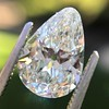 2.61ct Antique Pear Cut Diamond GIA I SI1 0