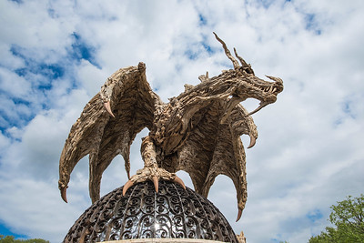 James Doran-Webb's driftwood 'dragon' sculpture