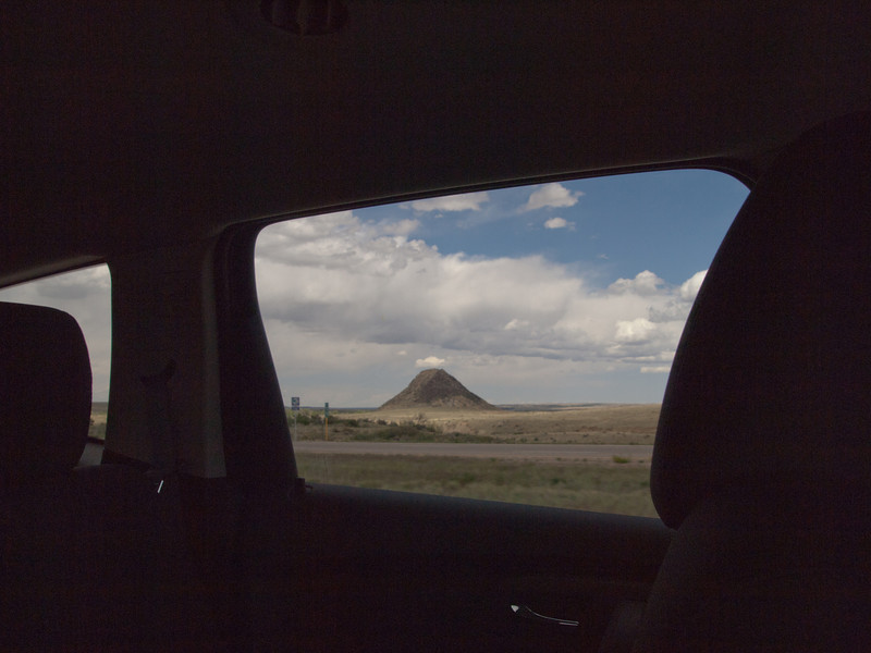 This is a lone  cinder cone to our east north of Walsenburg, CO.  (Huerfano Butte)
