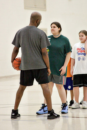 Tiffany's first basketball practice