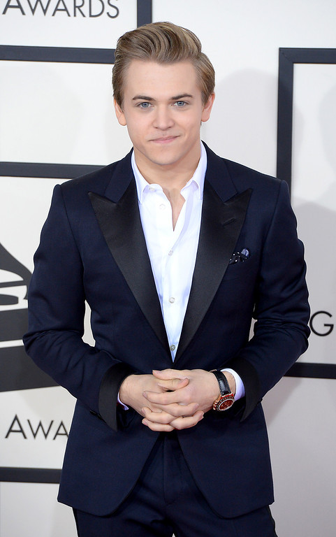 . Hunter Hayes arrives at the 56th Annual GRAMMY Awards at Staples Center in Los Angeles, California on Sunday January 26, 2014 (Photo by David Crane / Los Angeles Daily News)
