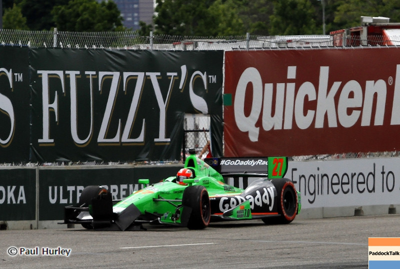 June 2: James Hinchcliffe during the Chevrolet Detroit Belle Isle Grand Prix.