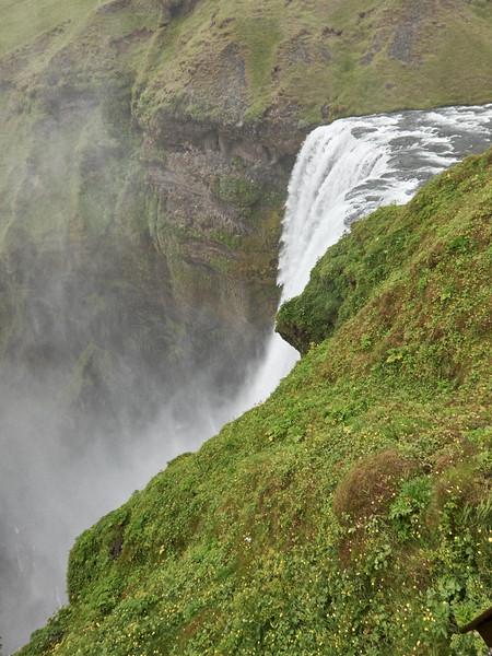 Waterfall near the  Strokkur Folk Museum