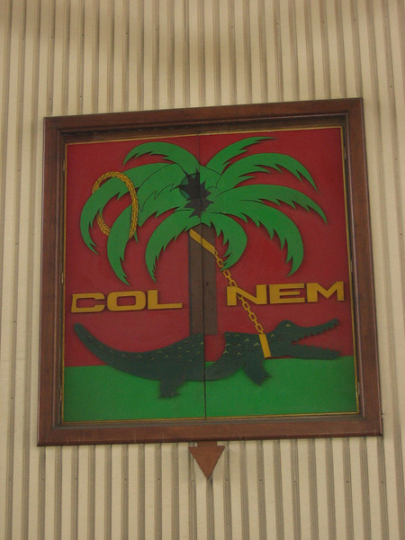 Nimes symbol from Roman times. Was on all their coins and buildings then. Alligator chained to the palm tree symbolized the conquering of Egypt by Rome.