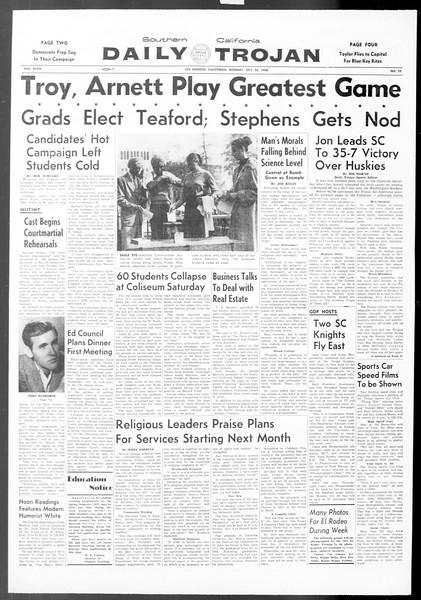 Daily Trojan, Vol. 48, No. 22, October 22, 1956