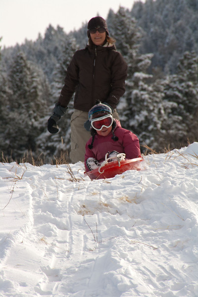 Sledding at Meyer Ranch Park