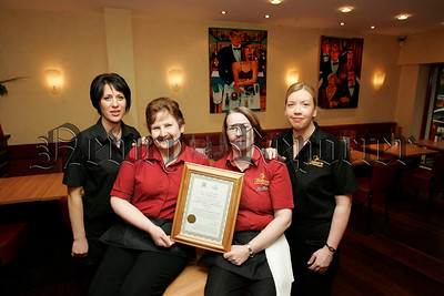 Donna Connolly, Sandra McElherron, Ibor Finnegan and Pauline Rush staff of the Shelbourne Newry who have won the   Best Child Friendly Establishment at the Sure Start awards 2006. 06W48N1