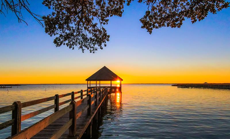 Corolla Park Pier Sunset Bay
