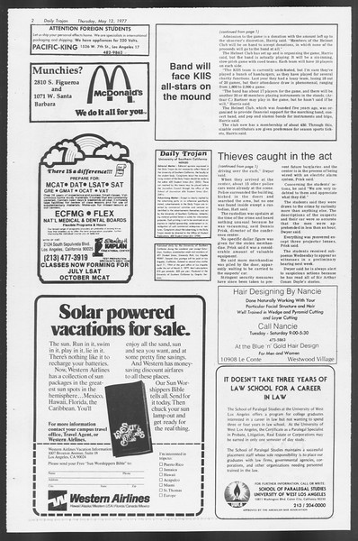 Daily Trojan, Vol. 71, No. 58, May 12, 1977