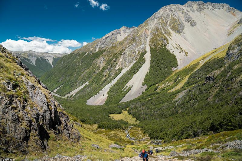 Ascent to Angelus Hut