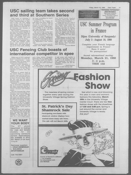 Daily Trojan, Vol. 106, No. 47, March 18, 1988