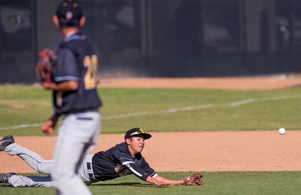 . Santa Fe High baseball vs Whittier Christian High at Biola University\'s field in La Mirada March 12, 2013.  (SGVN/Staff photo by Leo Jarzomb)