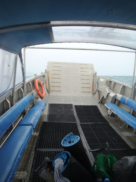 Scamper lowers a ramp like an amphibious assault vehicle, allowing access to remote beaches without jetties.