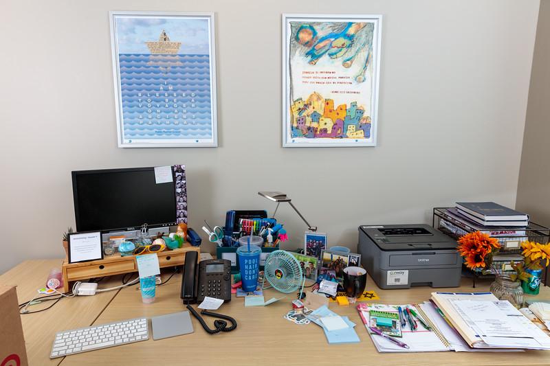 Rosie's desk.