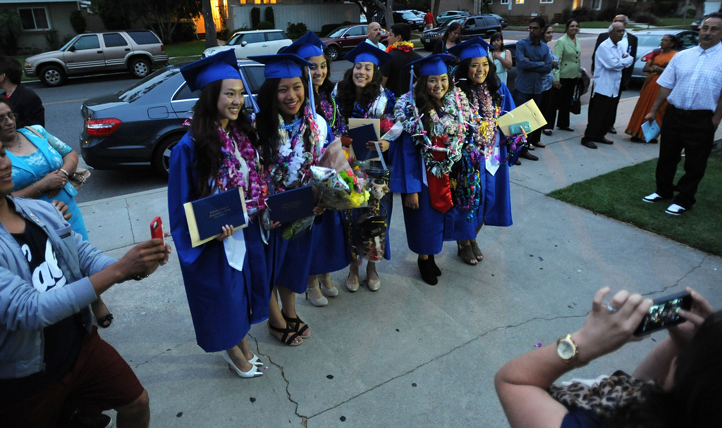 . Long Beach, Calif., -- 06-12-13- California Academy of Math and Sciences class of 2013 outside the Millikan High School Auditorium for the CAMS Twentieth Graduation Exercise Wednesday June 12, 2013.     Stephen Carr/  Los Angeles Newspaper Group