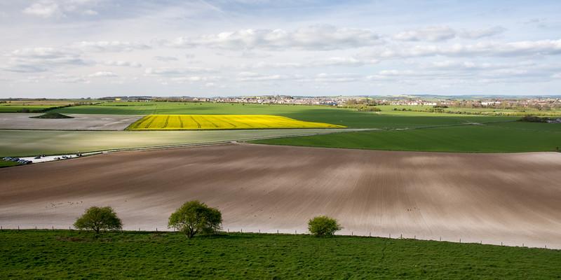 Farmland at Maiden Castle