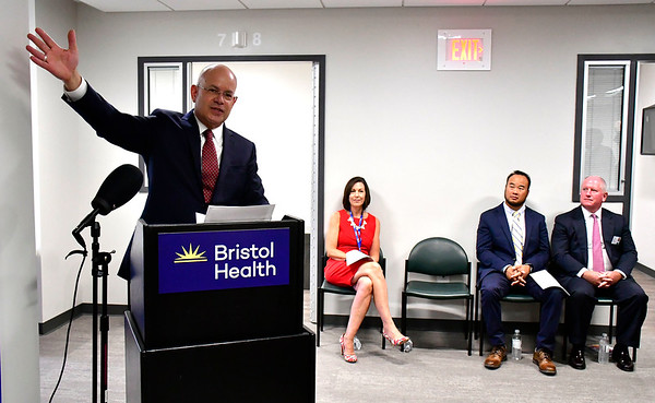 8/9/2019 Mike Orazzi | Staff Kurt A. Barwis, FACHE President and CEO of Bristol Health, during the ribbon cutting for behavioral health unit at Bristol Hospital on Friday morning.
