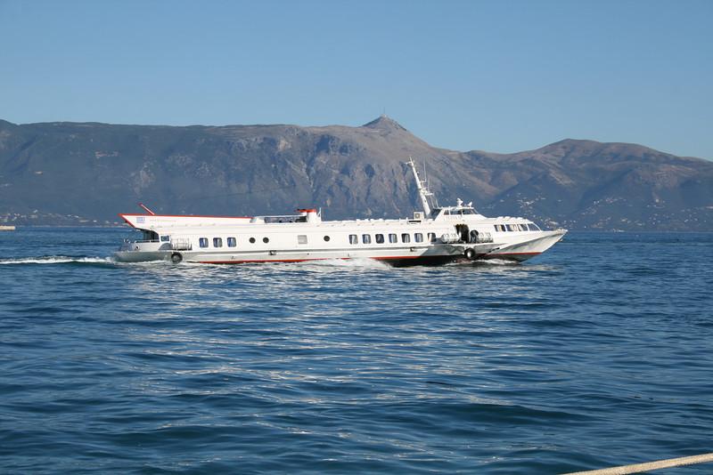 2010 - Hydrofoil ILIDA II departing from Corfu.