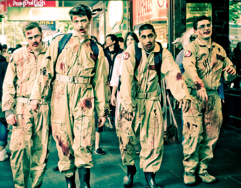 Zombies squadron on Swanston Street