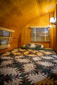 1954 Yellowstone 18' Travel Trailer Interior Bed