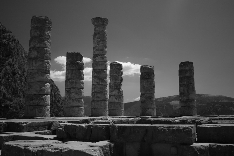 Delphi, Greece; Temple of Apollo