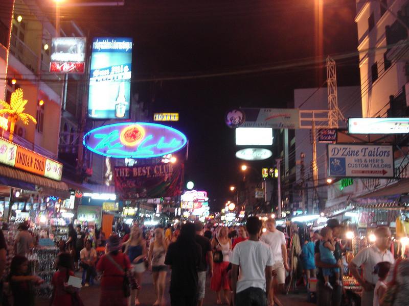 Bourbon street in Bangkok