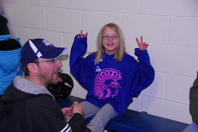 8U with the Spartan Varsity Girls (Feb-9-2012)