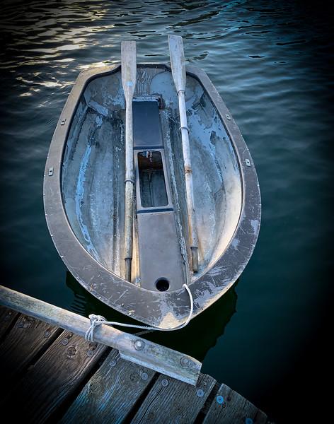Rowboat on a dock on Bainbridge Island