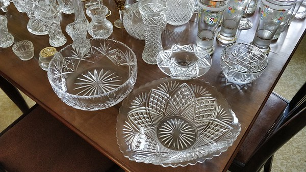 Cut Glass,  Crystal Ornaments & Other Glass
