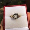 .53ctw Rose Cut Halo Ring, by Single Stone 35