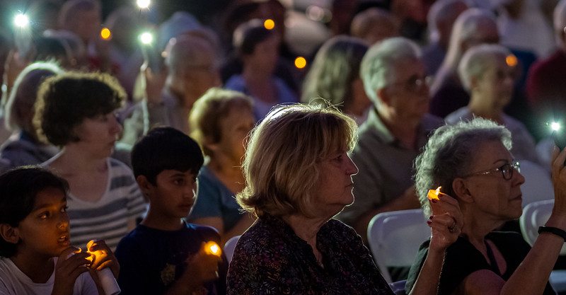 Vigil at  multifaith September 11 commemoration in Palo Alto
