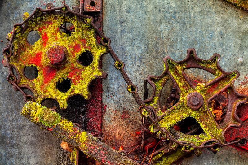 Gears and Chain, Casa de Fruita, Hollister, California, 2010
