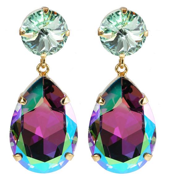 Perfect Drop Earrings / Chrysolite + Vitrail Light
