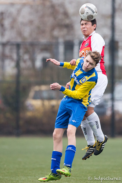 17-12-2016: Voetbal: Hillegersberg O19-2 v Alexandria '66 O19-2  KNVB beker 4e ronde seizoen 2016/2017