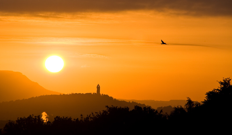The Wallace Monument at Sunset