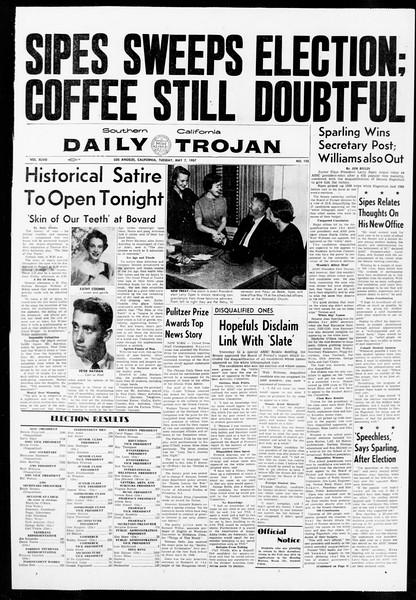 Daily Trojan, Vol. 48, No. 125, May 07, 1957