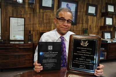 7066 Dean Larry James with his Awards 8-10-11