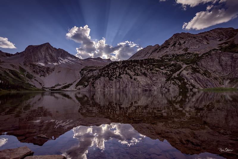 Snowmass Lake Sunbeams