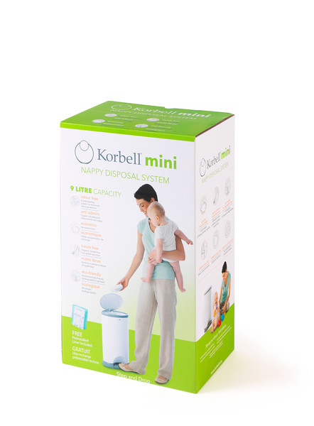 Korbell_Nappy_Bin_Packaging_Shot_Mini_9L_Single_Refill_Front_Angle.jpg