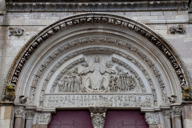 Vezelay Sainte-Madeleine Abbey West Facade Last Judgement Tympanum