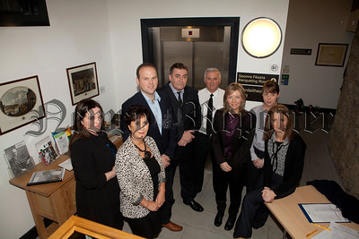 The PSNI hosted a cyberbulling conference at Bagenals Castle recently pictured are, Dr Anne Rice, Hilary Halliday, Cllr Connaire McGreevy, Jim Harding, Const Stan Lutton, Kate Bingham, Lorraine O'Reilly and Kerri Morrow. R1448009
