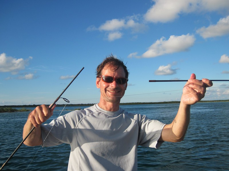 What the tarpon did to the rod
