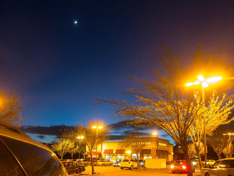 Jan 13: Night shopping orange and blue