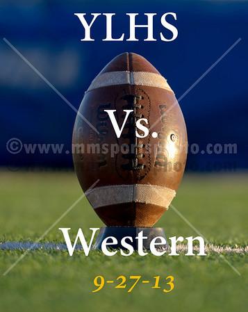 9-27-13 YLHS Football vs Western