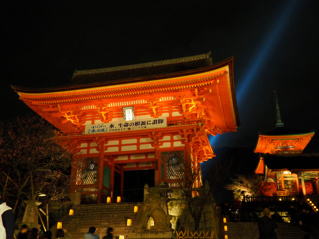 Night viewing at Kiyomizu-michi