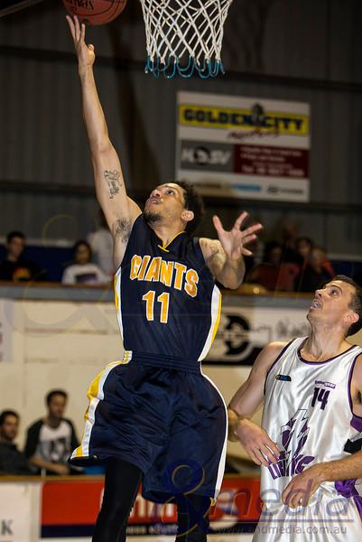 2014 WA State Basketball League: Round Two - Goldfields Giants vs Lakeside Lightning