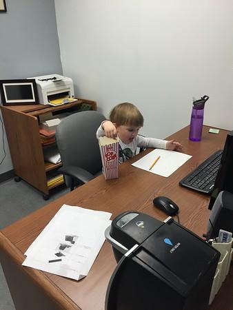 Shawn Thomas Helping At Daddy's School