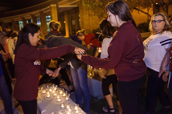 Candlelight Vigil for Yiorgo Karnezis