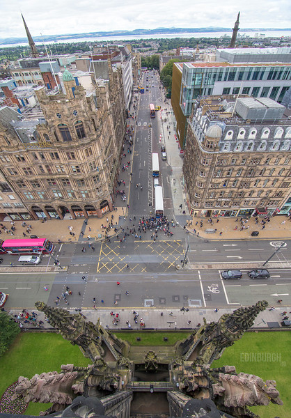 Looking down to Princes Street